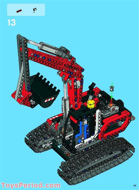LEGO 8294 Excavator Set Parts Inventory and Instructions