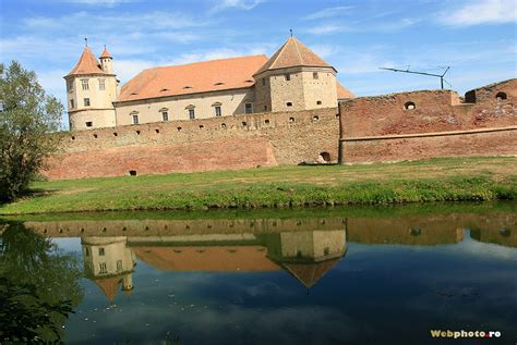 Fagaras Castle and its picturesque moat with swans | Photo