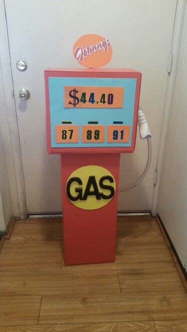 Gas pump for kids bday party,DIY   Cars theme birthday