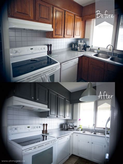 DIY Painting Wood Cabinets {Kitchen Cupboard Reno: Part