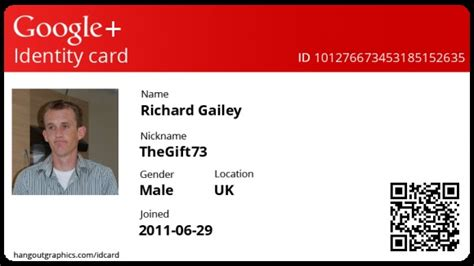 Create Your Own Google+ ID Card | Create your own, Cards