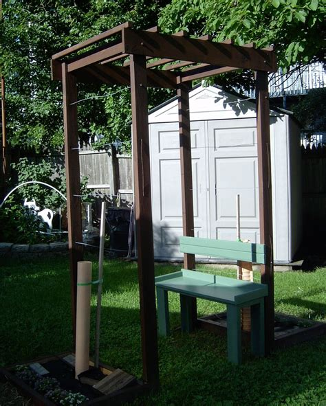 Grape Arbor with bench for a small space