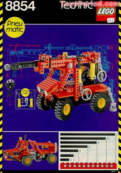 LEGO 8854 Power Crane Set Parts Inventory and Instructions